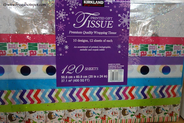 Kirkland Signature Luxury Printed Tissue 120 Sheets Costco