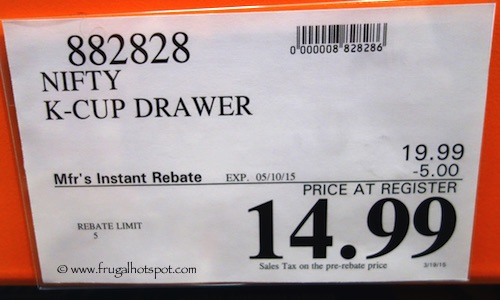 Nifty K-Cup Drawer Costco Price