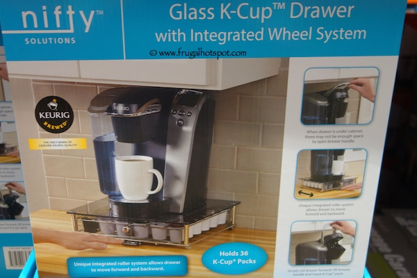 Nifty Solutions Glass K-Cup Drawer With Integrated Wheel System Costco