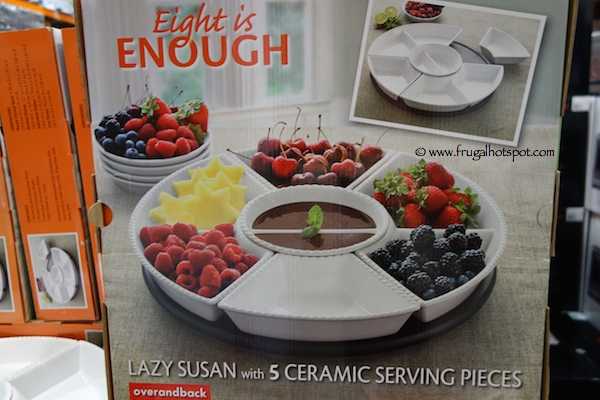 Over And Back Eight Is Enough Lazy Susan With 5 Ceramic Serving Pieces Costco