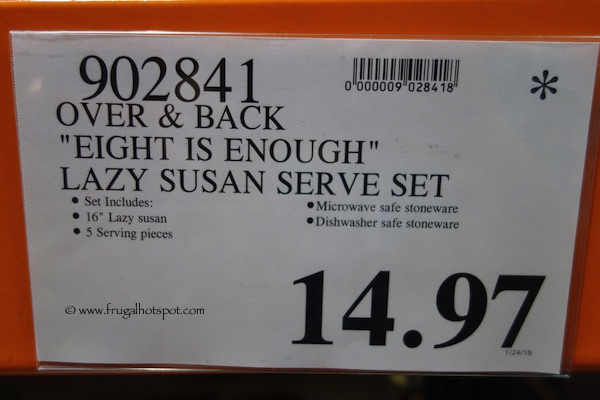 Over and Back Eight Is Enough Lazy Susan With 5 Ceramic Serving Pieces Costco Price