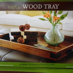 Costco: Rustic Wood Tray $29.99