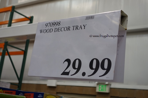 Rustic Wood Tray Costco Price