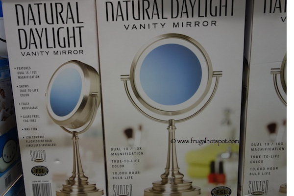 Lighted Vanity Mirror Natural Daylight : Costco Sale: Sunter Natural Daylight Vanity Makeup Mirror Frugal Hotspot
