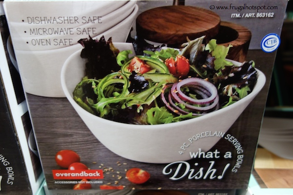 Costco Sale : Over and Back \'What a Dish\' 4-Piece Porcelain Bowl Set ...
