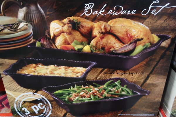 3 Piece Stoneware Bakeware Set Costco