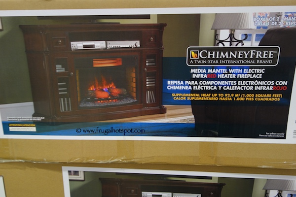 "ChimneyFree 64"" Media Mantel Electric Fireplace Costco"