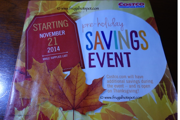 Page 1. Costco Pre-Holiday Savings Event Coupon Book 11/21/14 - 12/1/14.
