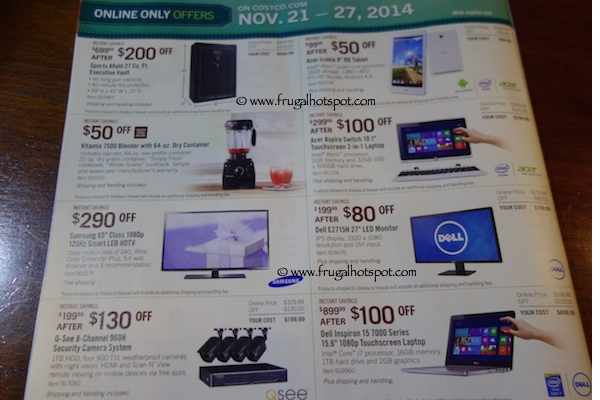 Page 10. Costco Pre-Holiday Savings Event Coupon Book. 11/21/14 - 11/27/14.