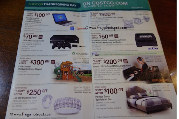 Page 11. Costco Pre-Holiday Savings Event Coupon Book. 11/21/14 - 11/27/14.
