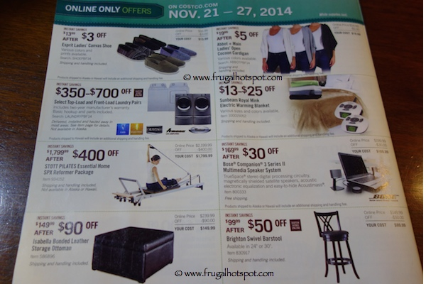 Page 12. Costco Pre-Holiday Savings Event Coupon Book. 11/21/14 - 11/27/14.