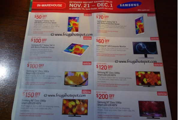 Page 2. Costco Pre-Holiday Savings Event Coupon Book: November 21, 2014 - December 1, 2014.