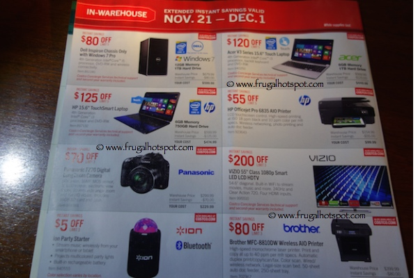 Page 4. Costco Pre-Holiday Savings Event Coupon Book: November 21, 2014 - December 1, 2014.