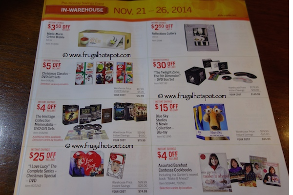 Page 7. Costco Pre-Holiday Savings Event Coupon Book 11/21/14 - 11/26/14.
