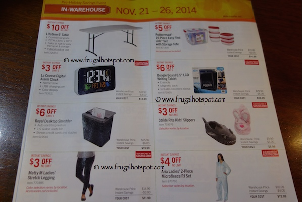 Page 9. Costco Pre-Holiday Savings Event Coupon Book 11/21/14 - 11/26/14.