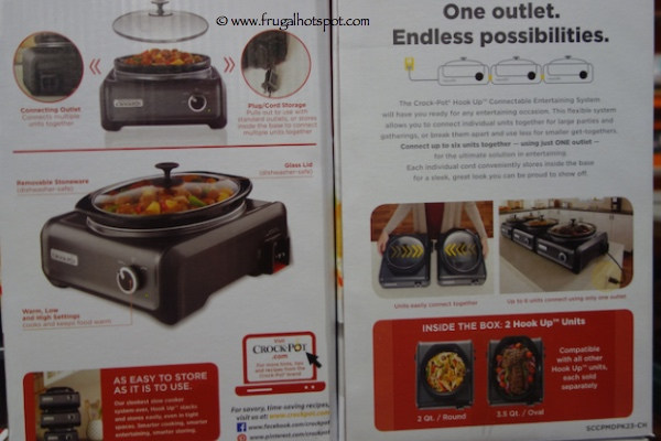 Crock Pot Hook Up 2 Piece Connectable System Costco