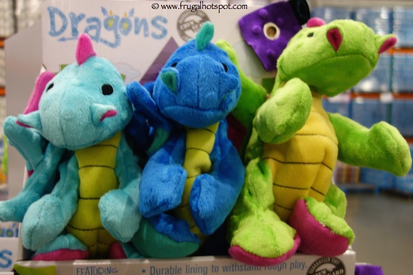 Quaker Pet Group Dragons Dog Toy 3 Pack Costco Frugal