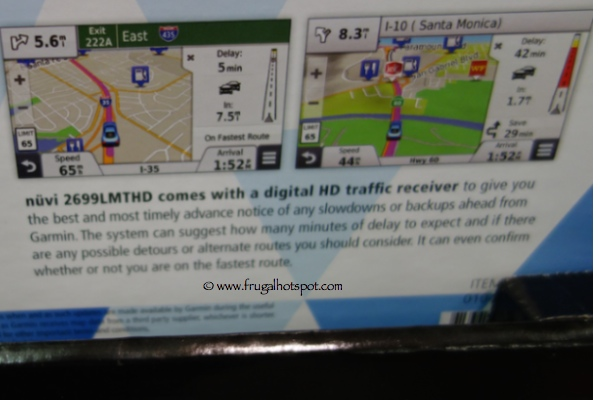"Garmin Nuvi 2699 LMT-HD 6"" Portable Auto GPS with HD Traffic Receiver Costco"