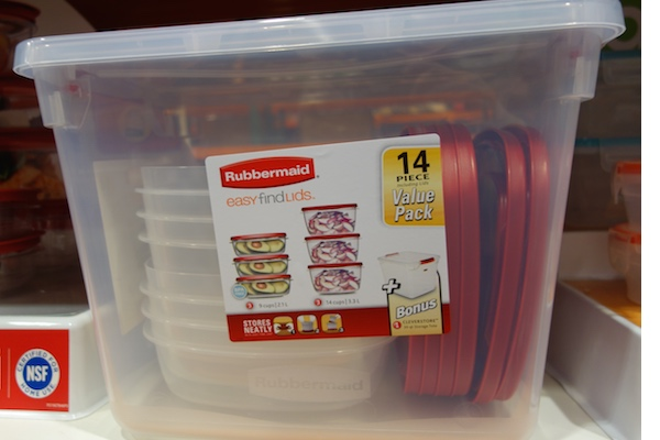 Rubbermaid 14 Piece Easy Find Lids Set with Storage Tote Costco