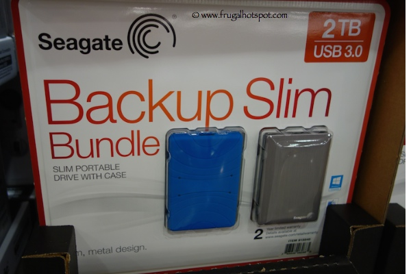 Seagate 2TB Backup Slim Portable Hard Drive Bundle Costco
