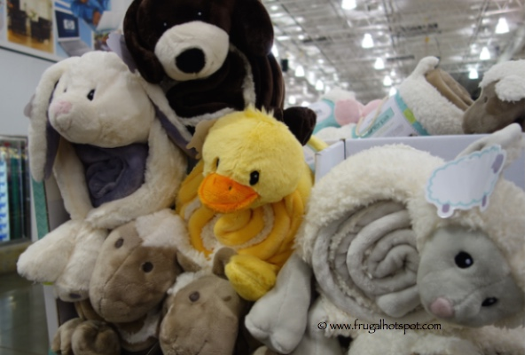 Little Miracles Snuggle Me Sherpa 2-Piece Blanket & Plush Set Costco