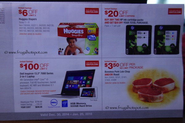 Page 1. Costco Coupon Book: December 30, 2014 - January 25, 2015.