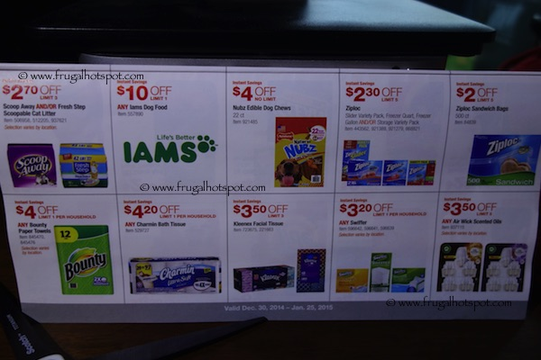 Page 11. Costco Coupon Book: December 30, 2014 - January 25, 2015.