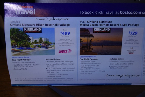 Costco Coupon Book: December 30, 2014 - January 25, 2015. Travel 1