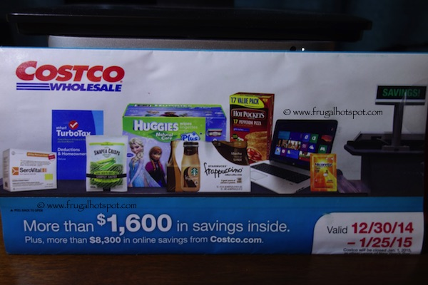 Costco Coupon Book: December 30, 2014 – January 25, 2015. Prices Listed.