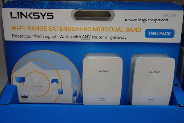 Linksys Dual Band N600 Wi-Fi Range Extender Costco