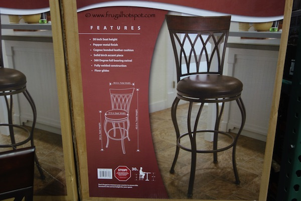 "Marsalla 30"" Swivel Barstool Costco"