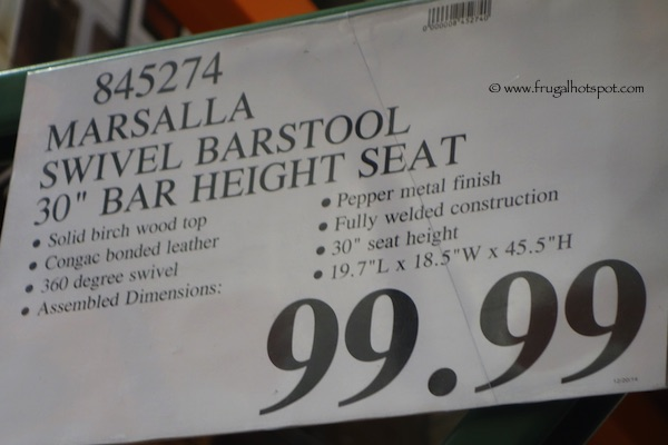 "Marsalla 30"" Swivel Barstool Costco price"