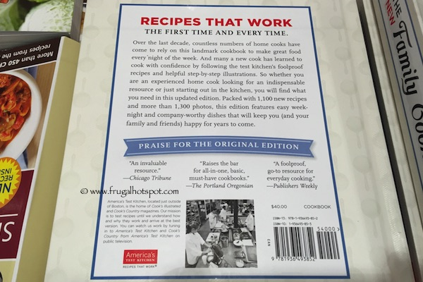 New Family Cookbook by America's Test Kitchen Costco