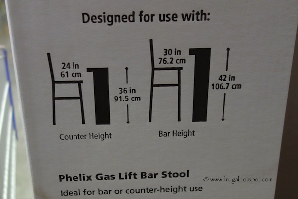 Costco Bayside Furnishings Phelix Gas Lift Bar Stool