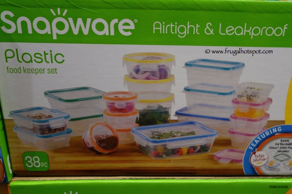 costco sale snapware 38 piece plastic food storage set frugal hotspot. Black Bedroom Furniture Sets. Home Design Ideas