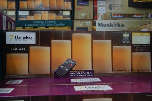 7 Flameless LED Vanilla Scented Candles Costco