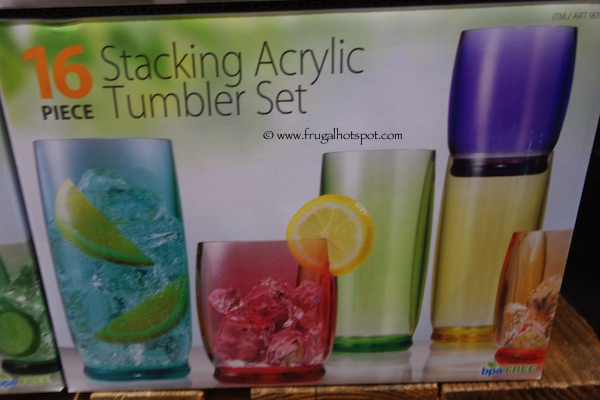16 Piece Stacking Acrylic Tumbler Set Costco