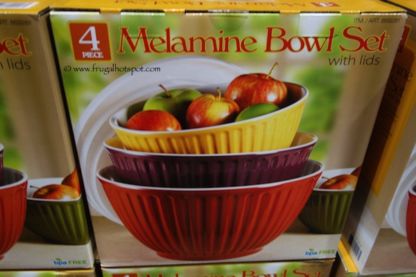 Pandex 4 Fluted Melamine Mixing Bowls Costco