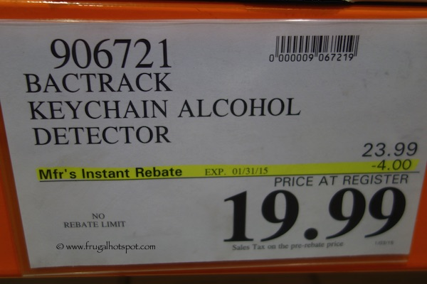 Bactrack Keychain Alcohol Detector Costco Price
