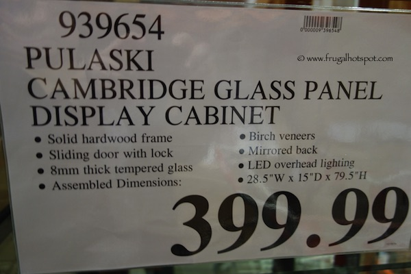 Pulaski Cambridge Sliding Glass Door Curio Cabinet Costco Price