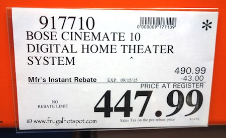 Bose Cinemate 10 Digital Home Theater System Costco Price