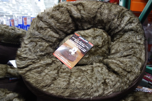 costco: kirkland signature pet nest bed with pillow $29.99