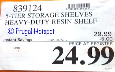 """Costco Sale Price: Keter 36"""" x 18"""" Storage Unit with 5 Shelves"""