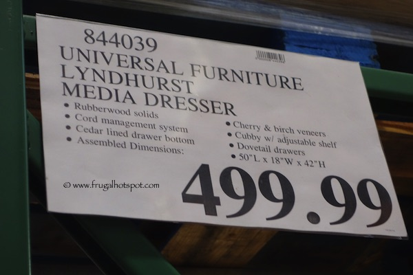 Universal Furniture Lyndhurst Media Dresser Costco Price