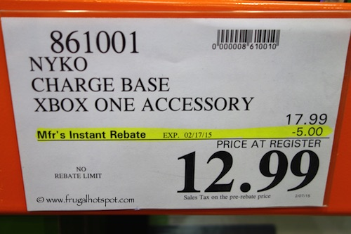 Nyko Charge Base XBox One Accessory Costco Price