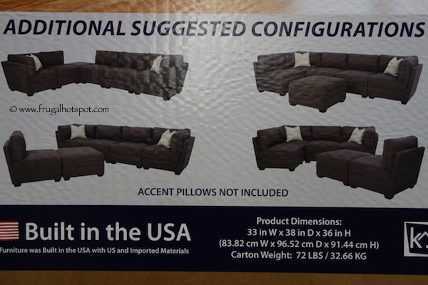 Klaussner Home Furnishings Options 6-Piece Modular Fabric Sectional Costco