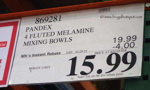 Pandex Fluted Melamine Mixing Bowls Costco price