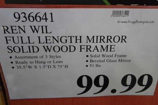 Ren Wil Full Length Mirror with Solid Wood Frame Aspen Costco Price