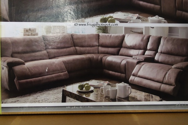 Costco Cheers Riverton 6 Piece Reclining Sectional