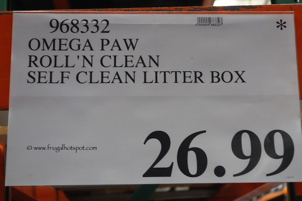 Omega Paw Roll'n Clean Self-Cleaning Litter Box Costco Price